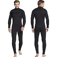 MORGEN SKY ウェットスーツ メンズ 3mm ワンピース チェストジップ 長袖フルスーツ ノンジップ 保温防寒 サーフィン MS-MY007