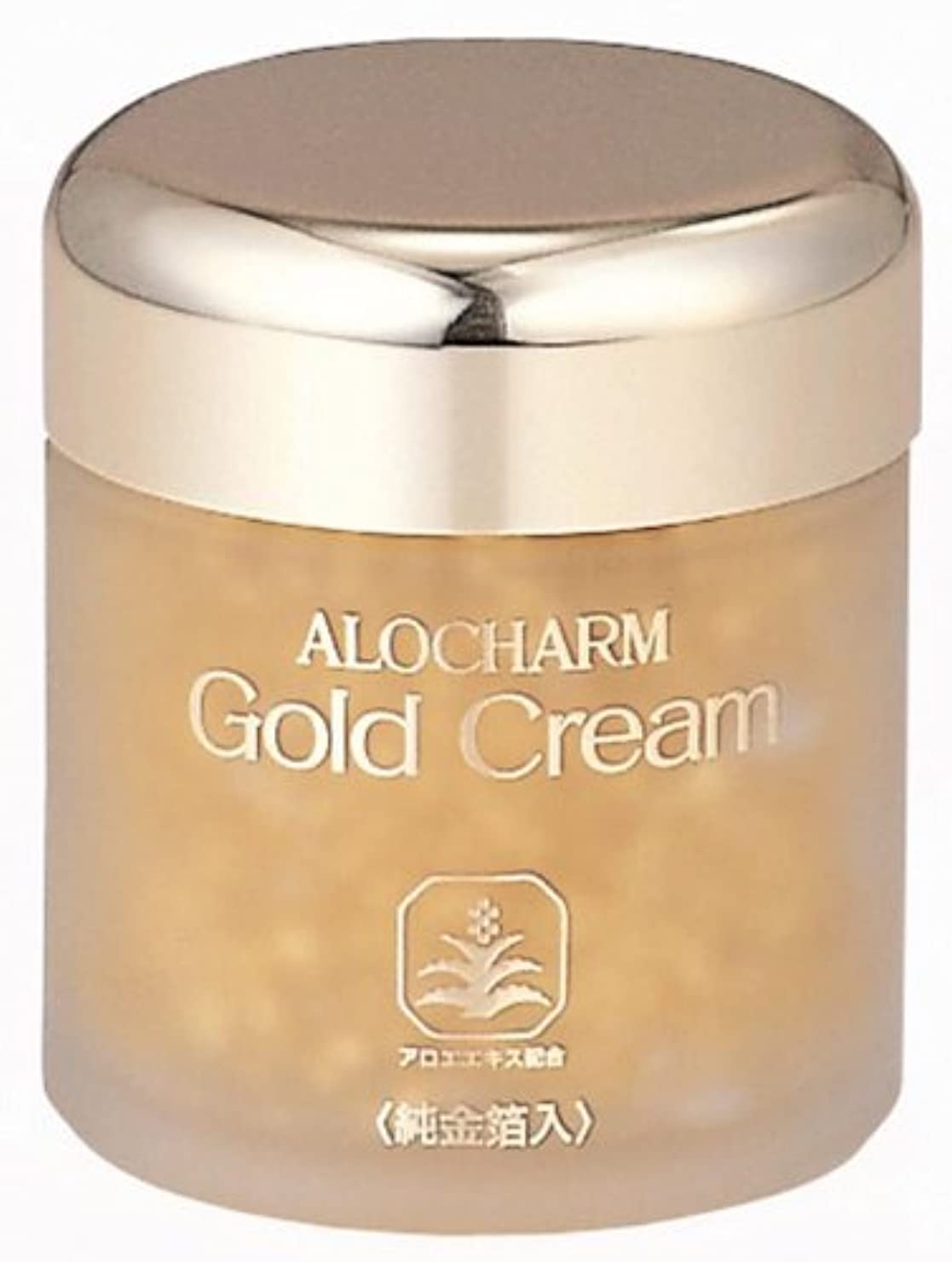 説明実際のはっきりしないアロチャーム 純金箔入り ゴールドクリーム 65g