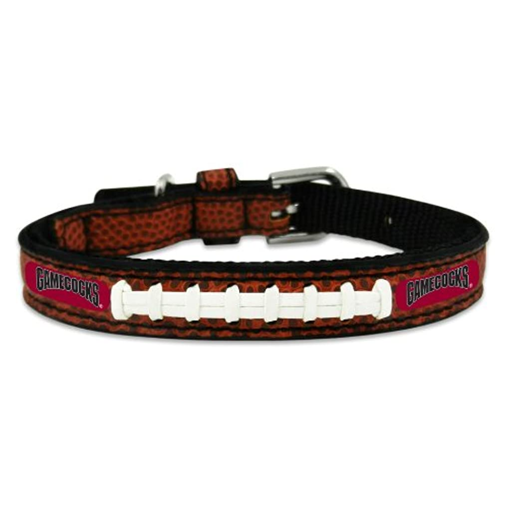 South Carolina Gamecocks Classic Leather Toy Football Collar