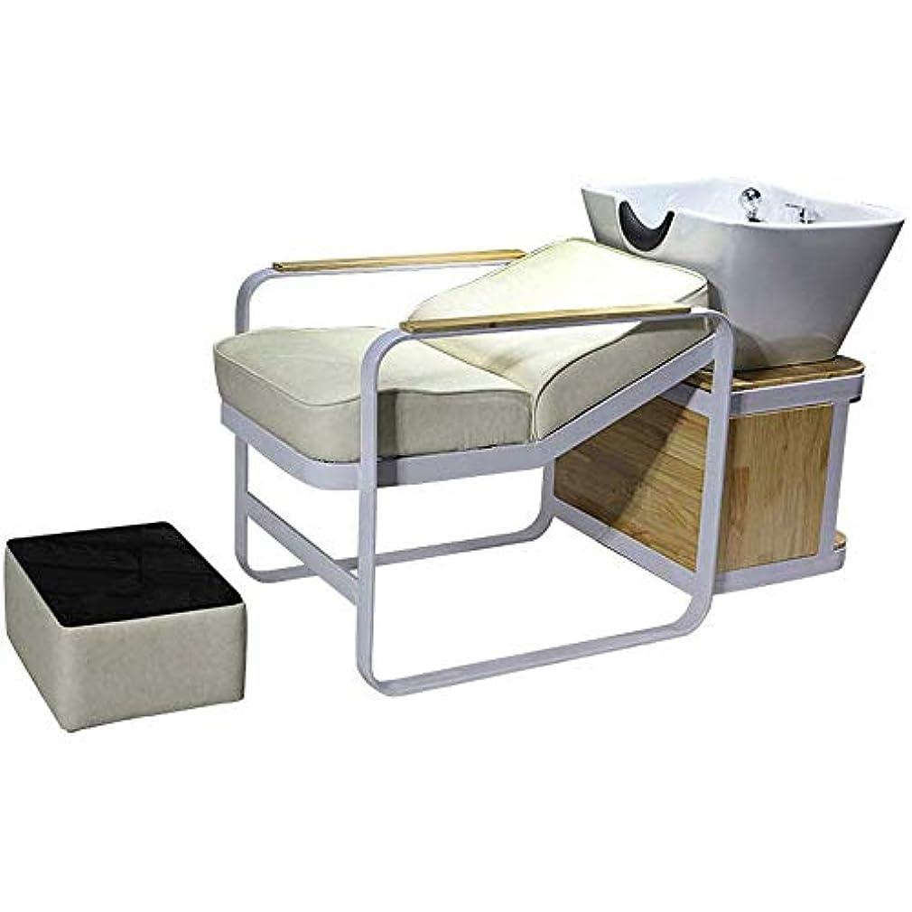 キャプション朝ごはんタイムリーなシャンプーバーバー逆洗椅子、スパビューティーサロン装置のための逆洗ユニットシャンプーボウル理髪シンクチェア