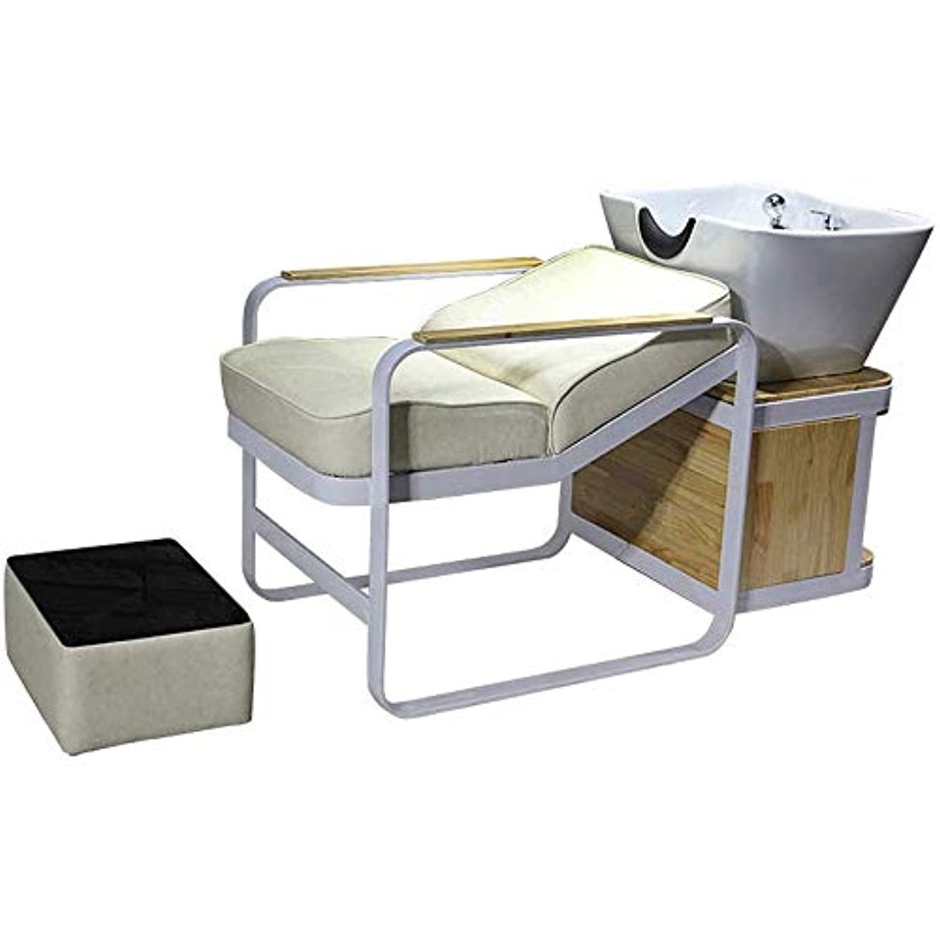 レタッチ管理しますレシピシャンプーバーバー逆洗椅子、スパビューティーサロン装置のための逆洗ユニットシャンプーボウル理髪シンクチェア