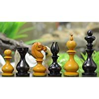 Chessbazaar Reproduced Antique Series Stained Calvert Chess Pieces In Dyed Box Wood