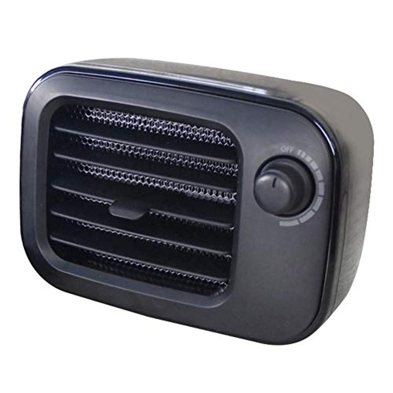 喉が渇いた委員会操るヒーターファン過熱保護インテリジェント電気サーモスタット低ノイズポータブルレトロ静かな暖房ハンドウォーマー寝室冬デスクトップホーム(ブラック)