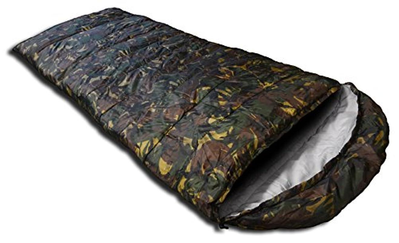 正直パウダー覗くSEIKOH 寝袋 シュラフ 封筒型 洗える寝袋 耐寒温度-6℃ カモフラ 迷彩 収納袋付き
