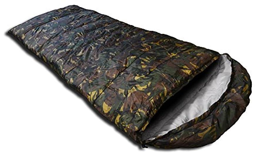 SEIKOH 寝袋 シュラフ 封筒型 洗える寝袋 耐寒温度-6℃ カモフラ 迷彩 収納袋付き