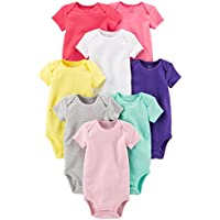 Carter's Baby-Girls 8 Pack Short Sleeve Bodysuits Short Sleeve Bodysuit - Multi