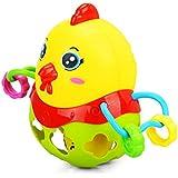 JWBOSS カラフルな動物 チキン ラトル ハンドベル把握 ソフトプラスチック おもちゃギフトプレゼント 赤ちゃんの幼児のため