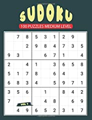 Sudoku 100 Puzzles Medium Level Vol 1: With Solutions and 10 Blank Grids / Difficulty Level between Easy and H