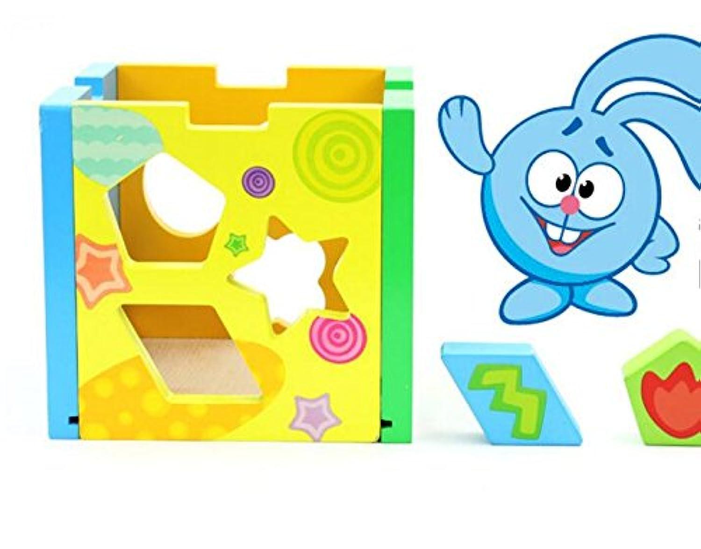HuaQingPiJu-JP 子供のためのブランドの新しいカラフルな形状ソーター幾何学的な並べ替えボックス教育形状色認識玩具