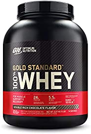 Optimum Nutrition Gold Standard 1 Whey Double Rich Chocolate Protein Powder, 2.27 Kilograms