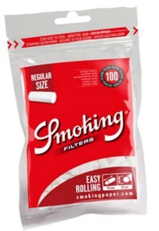添付ラグ拾う[smoking]スモーキング レギュラー フィルター 100個入り×6 手巻き タバコ 喫煙具