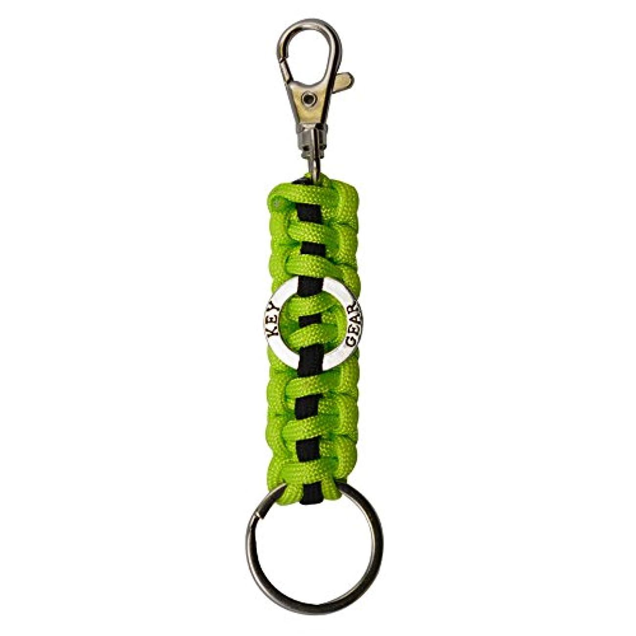 常にジャンクション場合key gear(キーギア) パラコード&クリップ ライム/ブラック KG02382