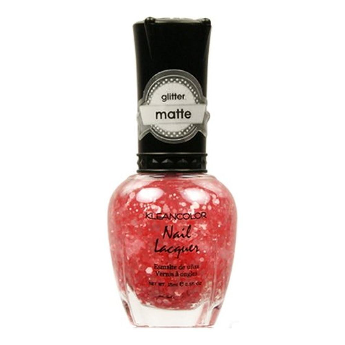 調停者強います敏感なKLEANCOLOR Glitter Matte Nail Lacquer - Blush Pink (並行輸入品)