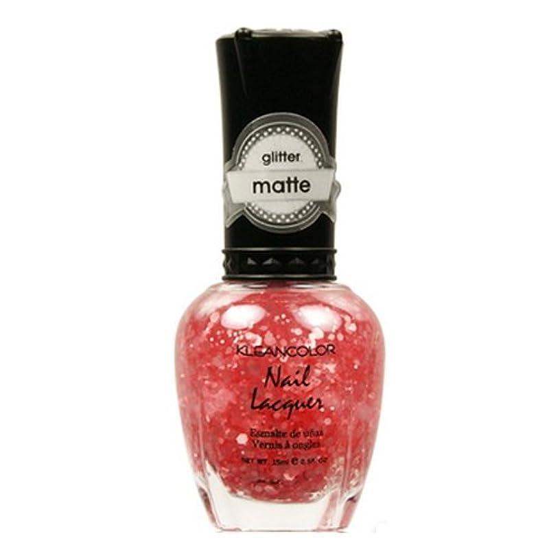 作成するキュービック留まるKLEANCOLOR Glitter Matte Nail Lacquer - Blush Pink (並行輸入品)
