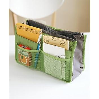 【バッグインバッグ】アップルグリーン ちょっとした外出や旅行、毎日カバンを変える方に便利!