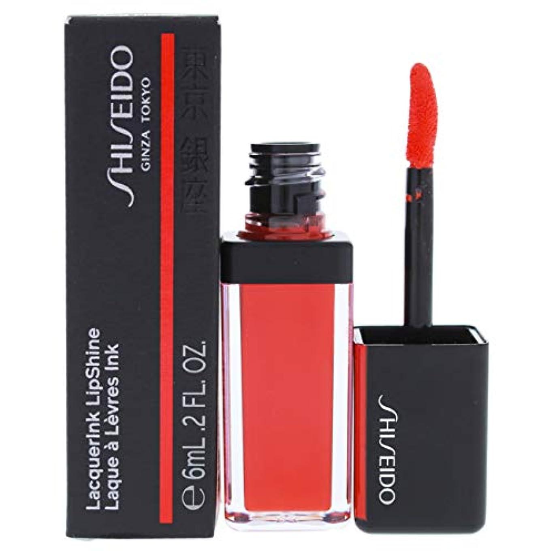 資生堂 LacquerInk LipShine - # 305 Red Flicker (Tangerine) 6ml/0.2oz並行輸入品