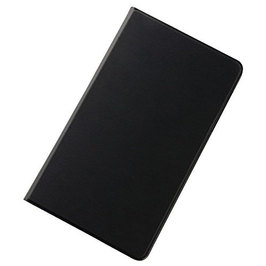夕暮れ戸棚大臣レイ?アウト d-02H/MediaPad M2 8.0 スリムレザーケース ブラック RT-MPM28SLC1/B