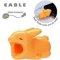 Dirance かわいい動物ケーブル バイト チョッパー チューワー 電話 ライトニングケーブルコード iPhone のアクセサリーを保護 Regular オレンジ Dirance