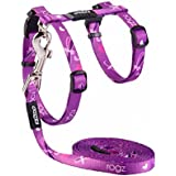Rogz Kiddycat Cat Harness and Lead, Purple, Small