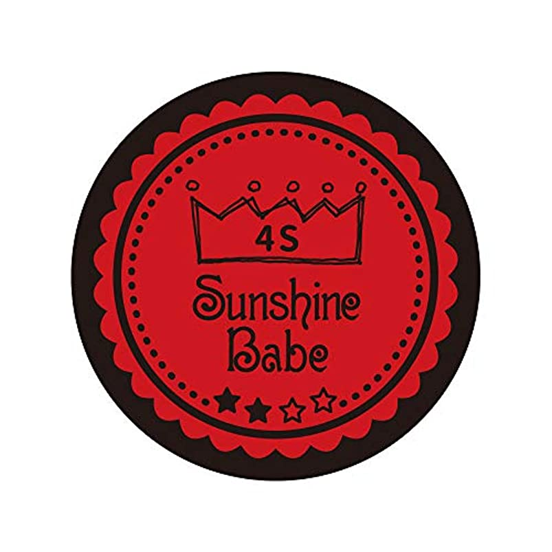 不名誉な誘惑する振動させるSunshine Babe カラージェル 4M ヴァリアントポピー 4g UV/LED対応