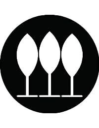 家紋シール 三本並び櫂紋 布タイプ 直径40mm 6枚セット NS4-1615