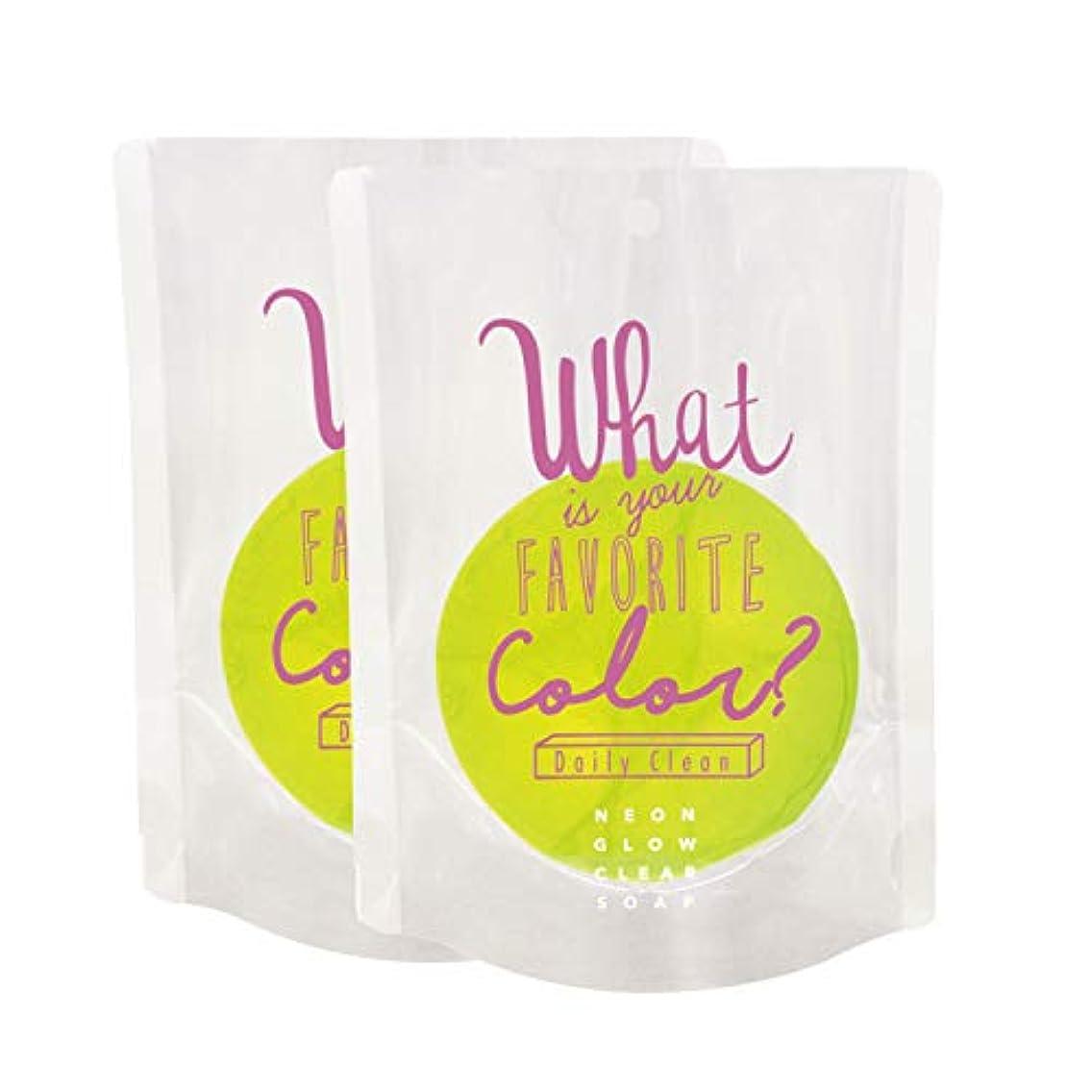 箱寄付する樹皮ノルコーポレーション ネオングロー クリアソープ OB-NGW-2-2 石鹸 パパイヤの香り 82g×2個セット