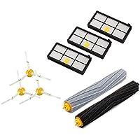 ルンバ 800 900 シリーズ付属 品 アイロボット870 880 980 対応互換セット - エアロブラシ、エッジクリーニングブラシ、ダストカットフィルター(8点セット)