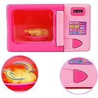RaiFu ままごと おもちゃ 子供 シミュレーション キッチン 電子 レンジ おもちゃ キット 遊び家 ゲーム 教育パズル おもちゃ ギフト
