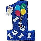 APINATA4U 子犬テーマパーティー用ワンピニャータ 青色