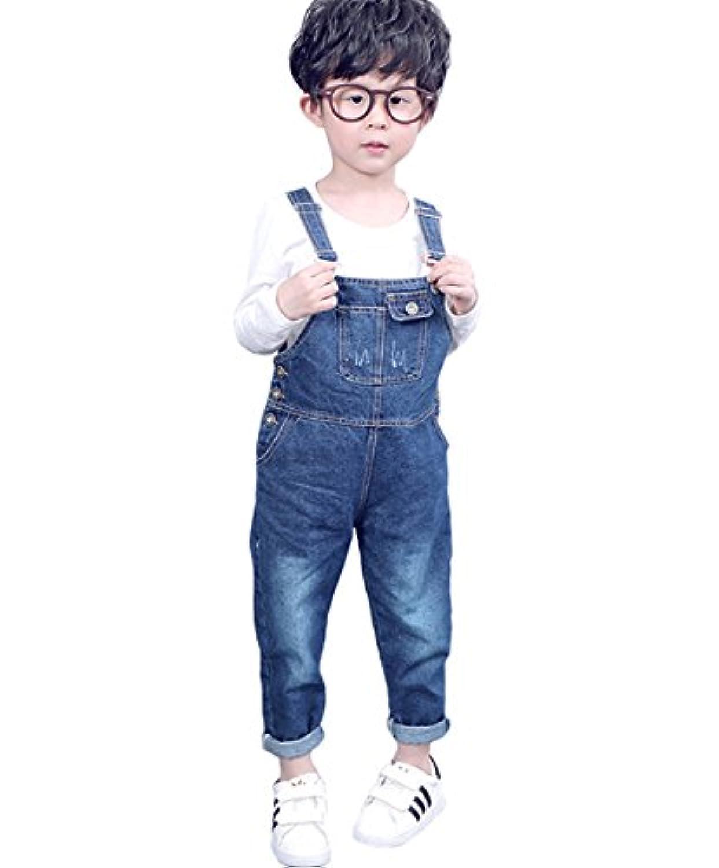 [FERE8890] ボーイズ サロペット デニム パンツ 子供 ズボン キッズ 女の子 男の子 男女兼用 春服 ジーンズ デニムジーンズ オーバーオール ジーンズ