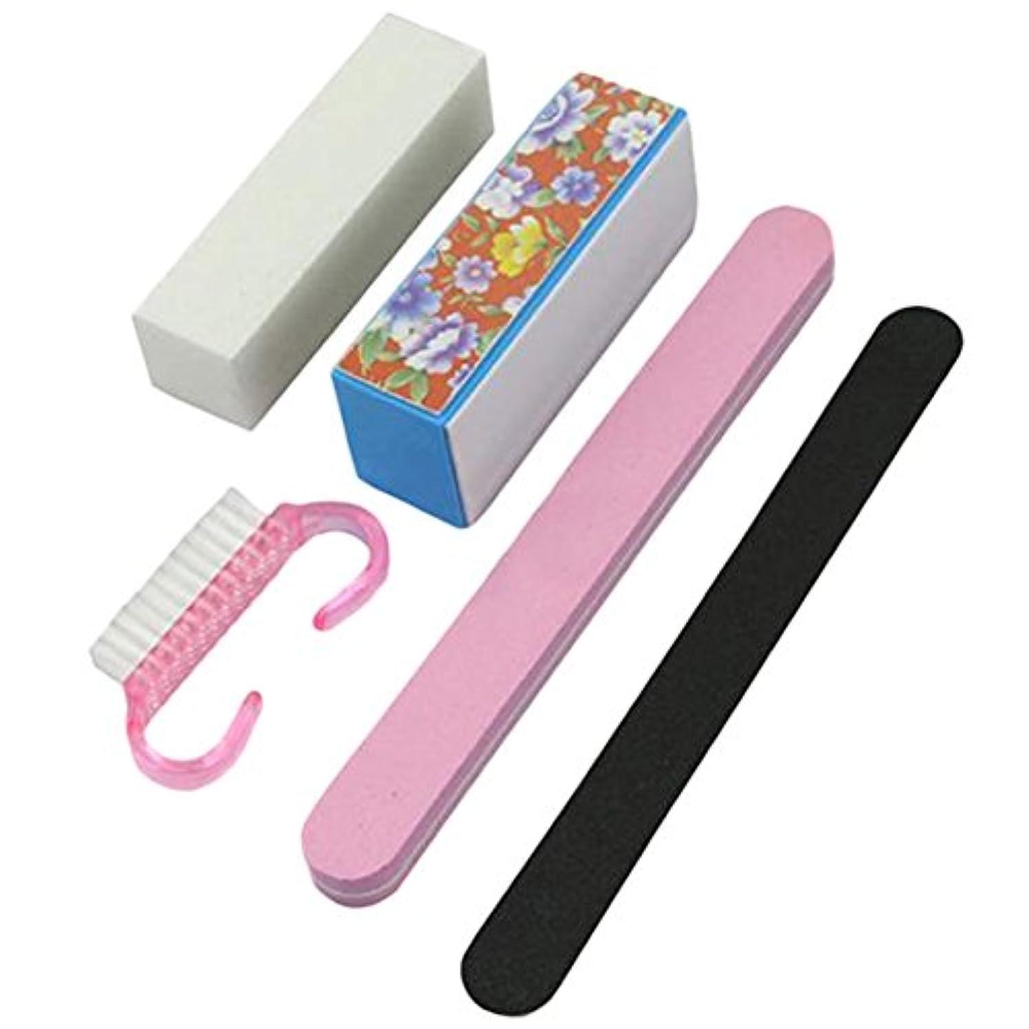 自体アーチサーフィンYideaHome ネイルファイル 爪やすり 爪磨き ネイルケア 5点セット ジェルネイル用ファイル