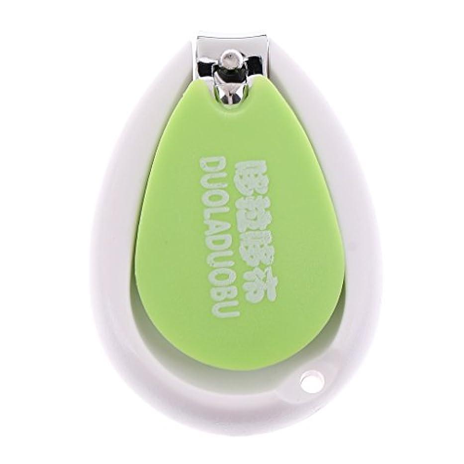 クッションアルコール構成するToygogo 繊細で安全な赤ちゃんの爪切り安全マニキュアネイルカッター穏やかな小さな爪 - 緑