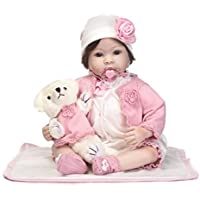 SanyDoll Rebornベビー人形ソフトSilicone 22インチ55 cm磁気Lovely Lifelike Cute Lovely Baby b0763klsdf