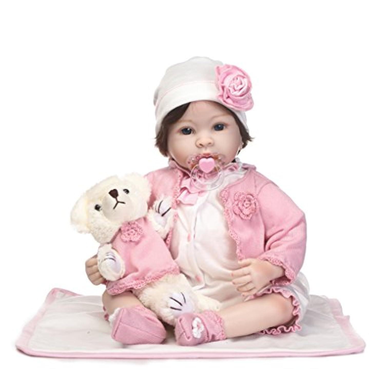 SanyDoll Rebornベビー人形ソフトSilicone 22インチ55 cm磁気Lovely Lifelike Cute Lovely Baby b0763klsdf