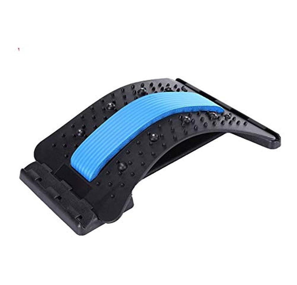 水を飲むいま威信背中バキバキ バック ストレッチャー 家庭用 腰椎サポート脊椎の痛みを軽減カイロプラクティック、姿勢コレクターバックサポートをリラックス
