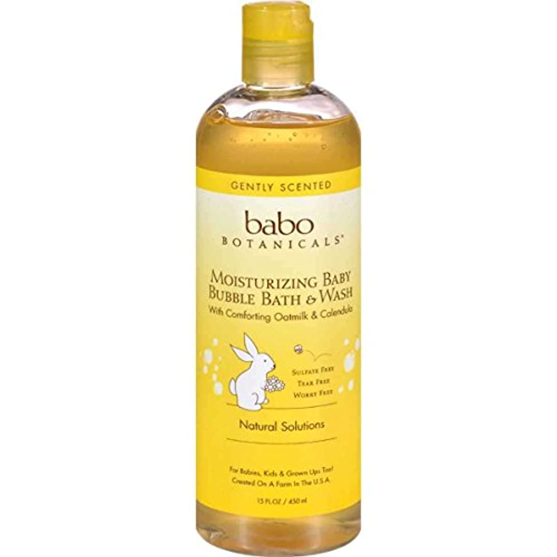 唯一スキャンダラスポップ海外直送品Replenishment Bubble Bath and Wash, Oatmilk Calendula 13.5 oz by Babo Botanicals
