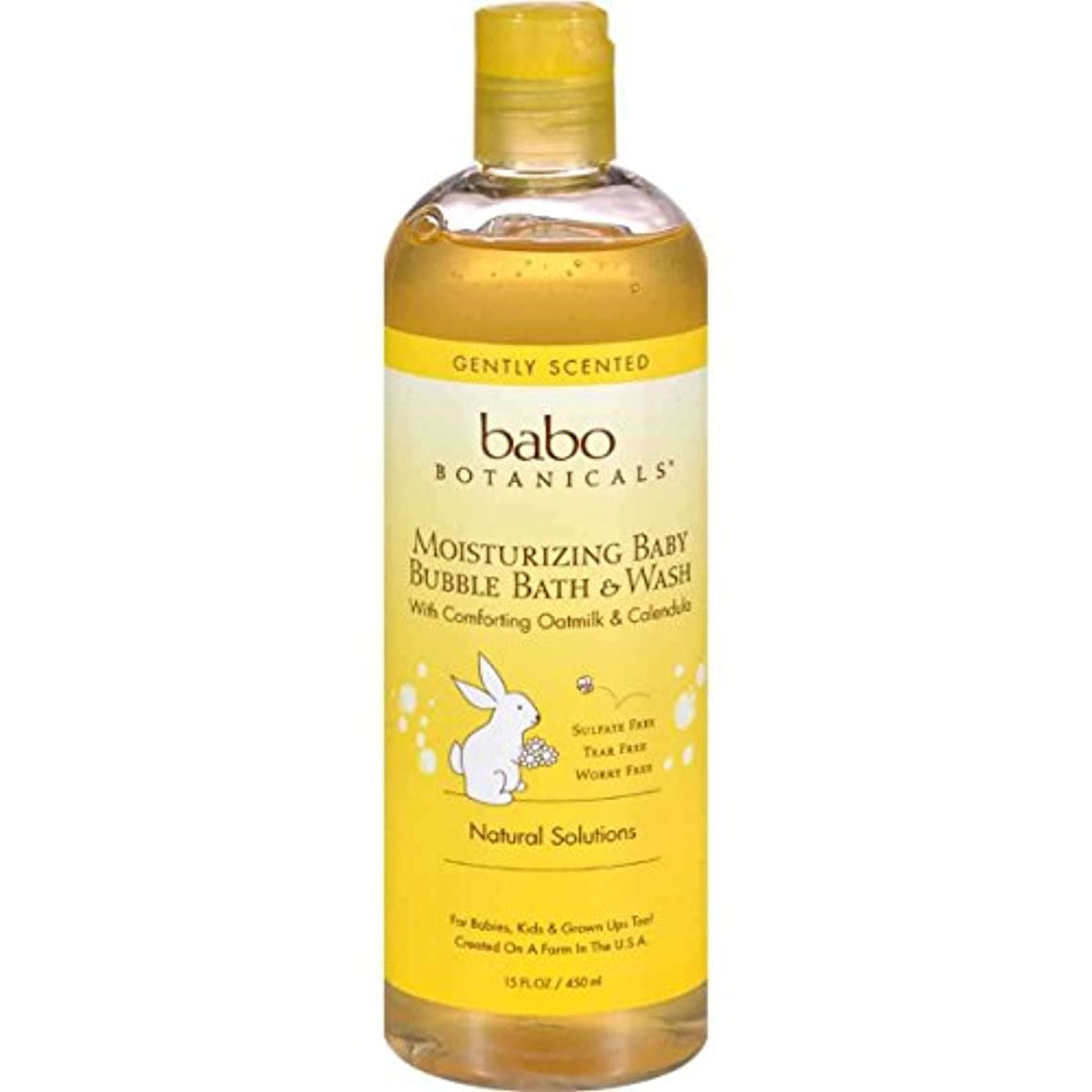 ゾーンフライカイトショット海外直送品Replenishment Bubble Bath and Wash, Oatmilk Calendula 13.5 oz by Babo Botanicals