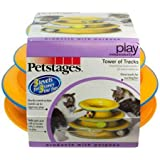 Petstages Tower of Tracks Cat Toy – 3 Levels of Interactive Play – Circle Track with Moving Balls Satisfies Kitty's Hunting, Chasing, and Exercising Needs
