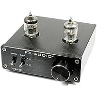 FX-AUDIO- 【ブラック】真空管プリアンプ(ラインアンプ) NFJオリジナルモデル TUBE-01J