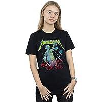 Absolute Cult Metallica Women's Justice Neon Boyfriend Fit T-Shirt