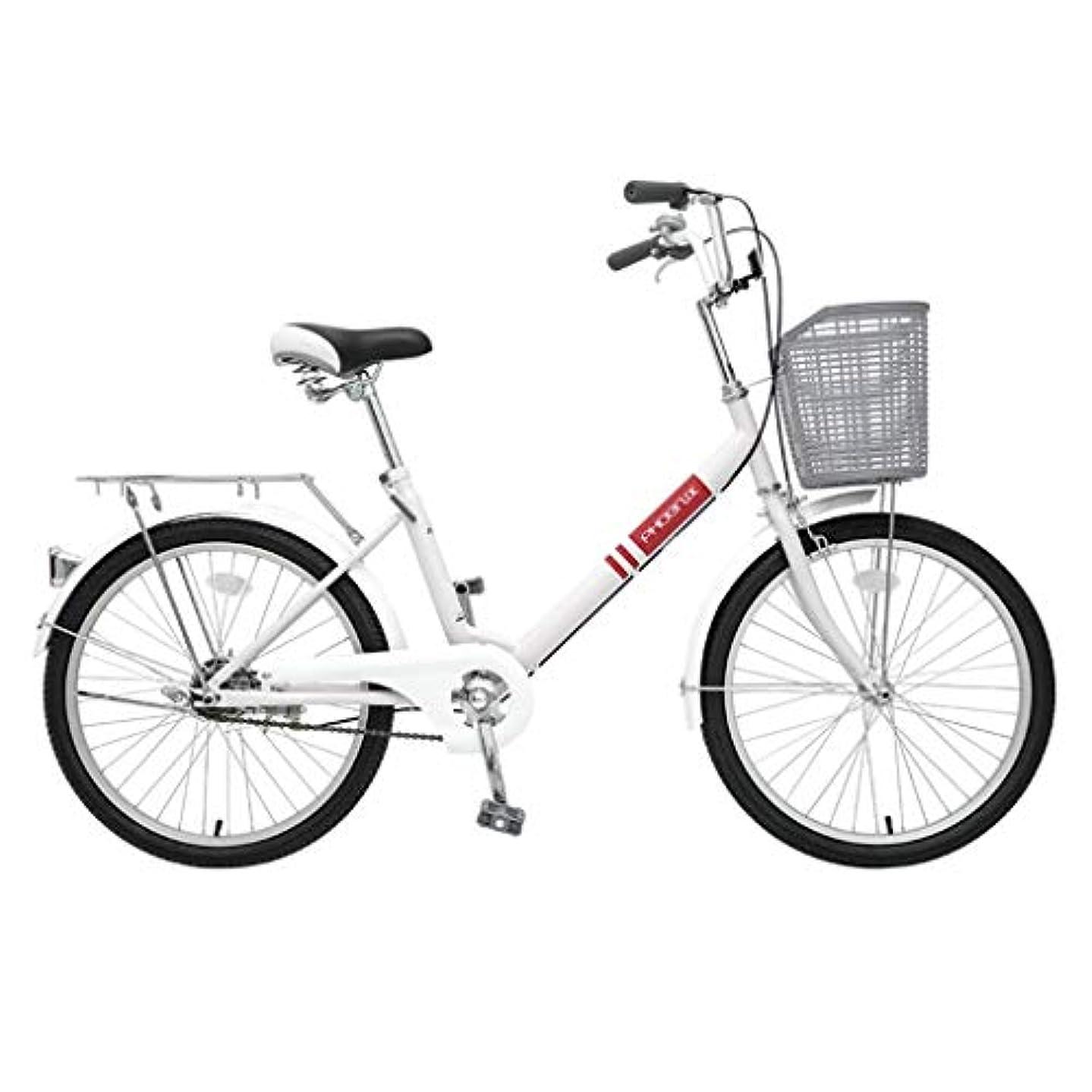 ゴシップ貫入ミトン自転車折りたたみ自転車ユニセックス20インチシングルスピードポータブル自転車ポータブル通勤レトロ自転車 (Color : BEIGE, Size : 116*22*??74CM)