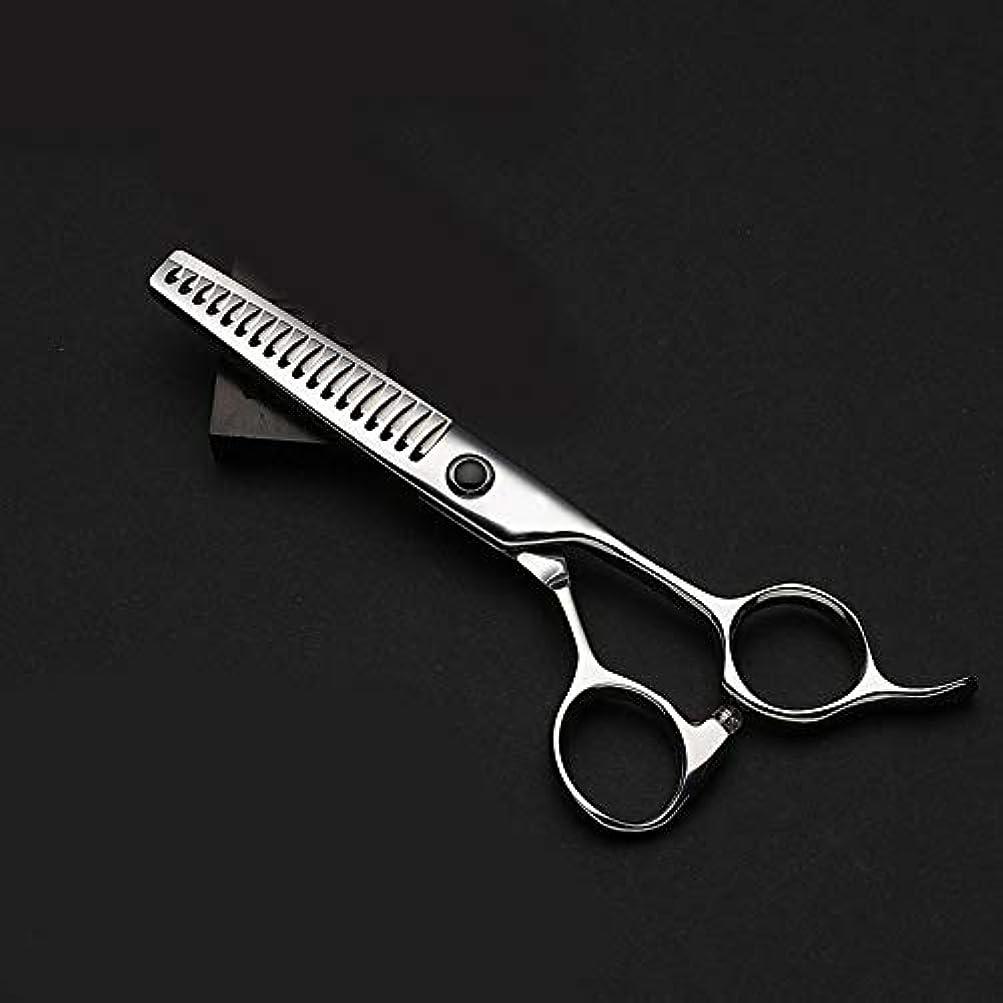 動作摂動巨大WASAIO プロフェッショナル理髪はさみトリミングアクセサリー間伐ヘアカットのはさみキット理容サロンレイザーエッジツール歯を設定シームレスな魚Oの5.5インチ (色 : Silver)
