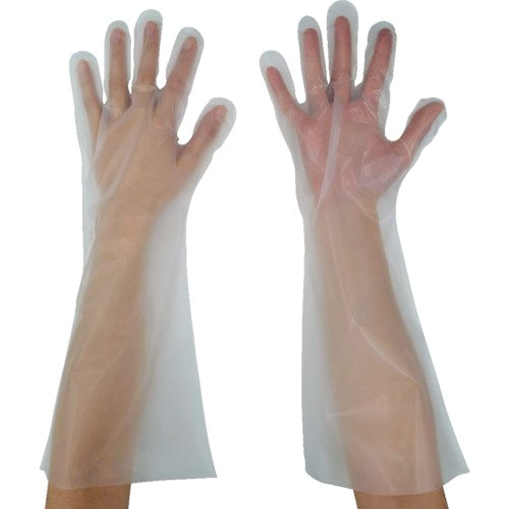 サーバントピアースメアリアンジョーンズ東京パック 緊急災害対策用手袋ロング五本絞りL 半透明 KL-L