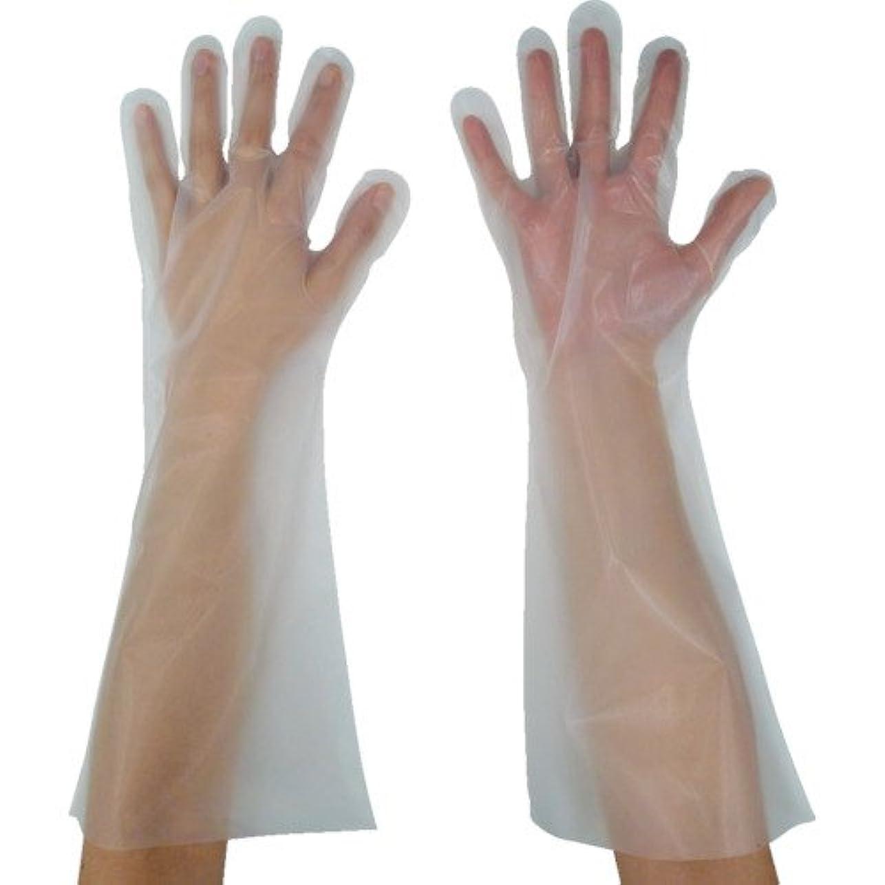 生き返らせるリブ水陸両用東京パック 緊急災害対策用手袋ロング五本絞りL 半透明 KL-L