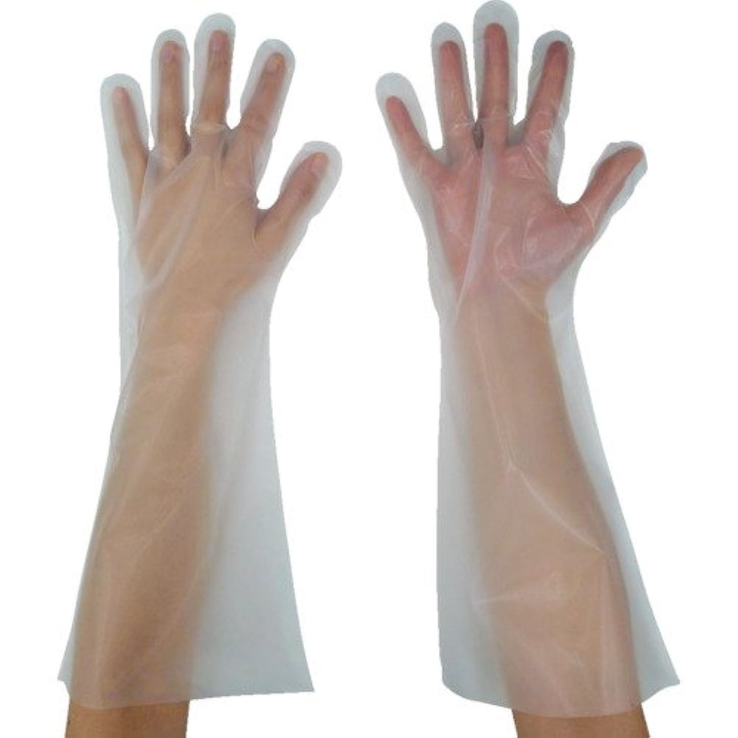 葉巻不要必要としている東京パック 緊急災害対策用手袋ロング五本絞りM 半透明 KL-M