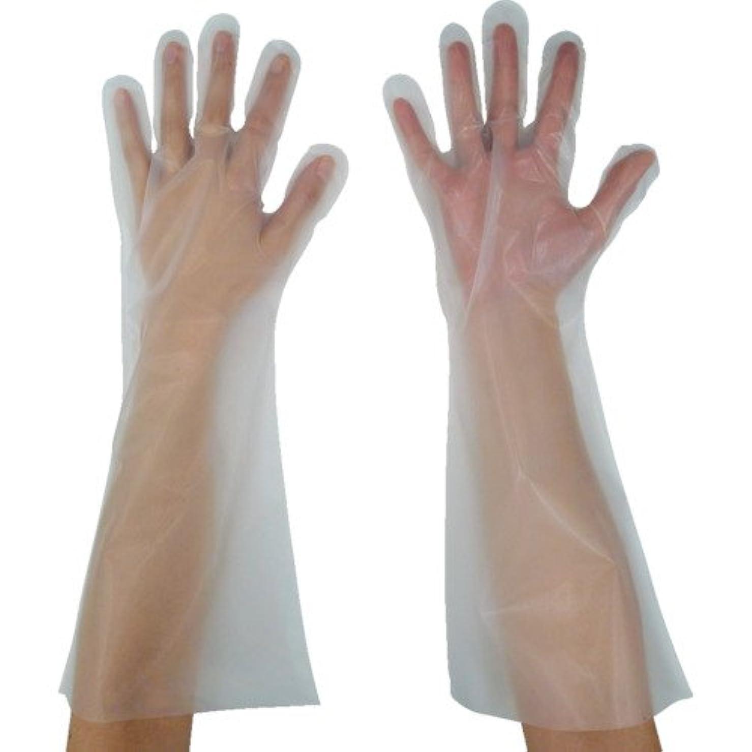 ヒョウ落ち着いた上陸東京パック 緊急災害対策用手袋ロング五本絞りL 半透明 KL-L