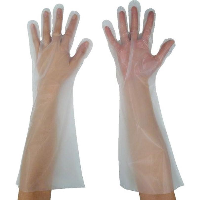 く尊敬鉱夫東京パック 緊急災害対策用手袋ロング五本絞りS 半透明 KL-S