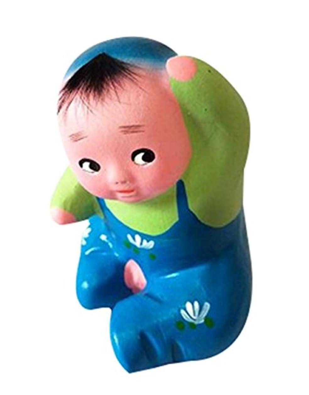 2個のクリエイティブ装飾粘土彫刻中国粘土人形かわいいクラフト