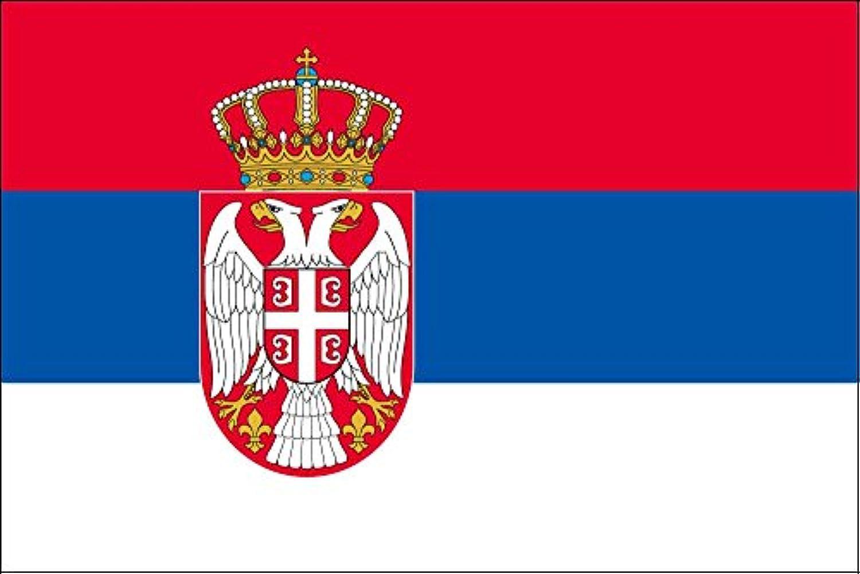 世界の国旗 セルビア 国旗 [120×180cm 高級テトロン製]