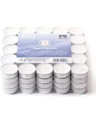 2 Hour Unscented White Tea Lights (Pack of 100)